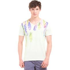 OGWEN Frost Cream Regular Fit Printed T-Shirt,  off white, s