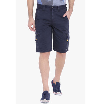 Breakbounce Ethen Cargo Slim Fit Shorts,  navy, 32