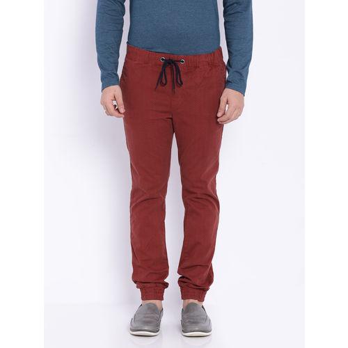 Breakbounce Hedaru Slim Fit Printed Joggers,  blue, 28