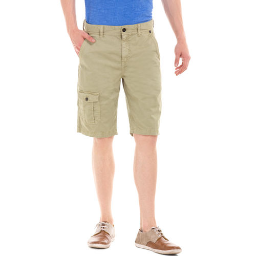 POTTER DESSERT GREEN Slim Fit Solid Shorts,  green, 28