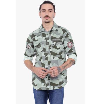 Breakbounce Austin Men's Casual Slim Fit Shirt, regular, xl,  grey