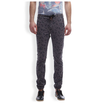 Breakbounce Naura Regular Fit Printed Joggers,  grey, 32