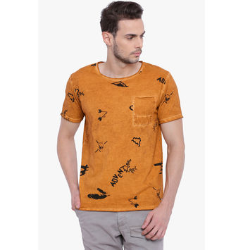 Breakbounce Boris Men's Casual T-Shirt, s,  omber orange