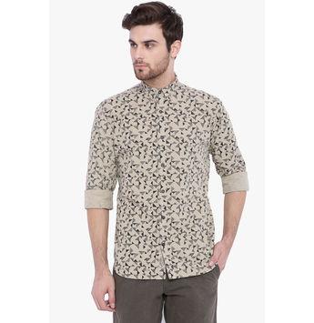 Breakbounce Aruel Men's Casual Slim Fit Shirt, regular, xxl,  cream