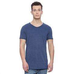 Grafton Light Indigo Solid Regular Fit T Shirt, l,  light indigo