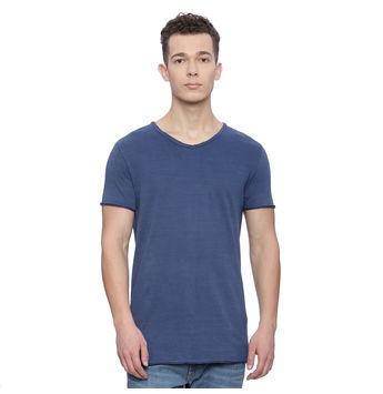Grafton Light Indigo Solid Regular Fit T Shirt, xl,  light indigo
