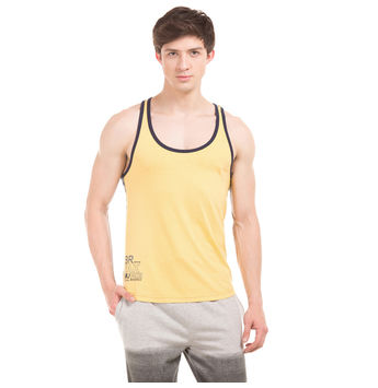 BRECK Sun Yellow Slim Fit Solid Vest,  red, s