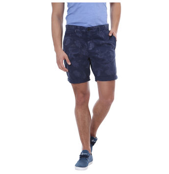 Breakbounce Kaya Comfort Fit Printed Shorts,  navy, 30
