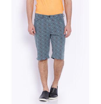 Breakbounce Fredo Printed Slim Fit Shorts, 34,  persian blue