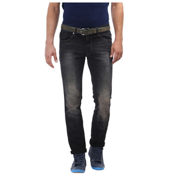 Breakbounce Dawa Black Slim Fit Casual Men's Denim,  black, 34