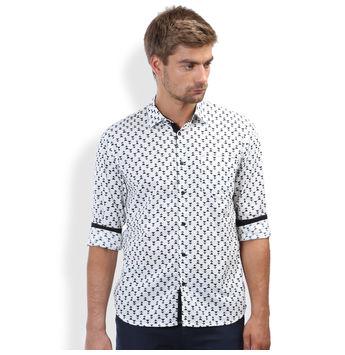 Breakbounce Sable-1 Men's Casual Shirt, l,  ciar black