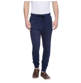 Hillard Dark Indigo Solid Regular Fit Joggers, 32,  dark indigo