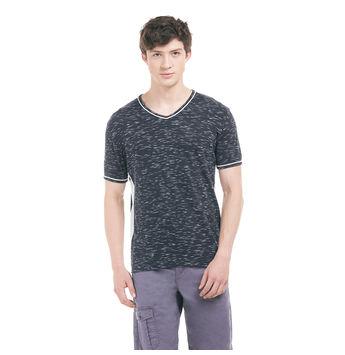 KEW Indigo Blue Regular Fit Solid T-Shirt,  navy blue, xl