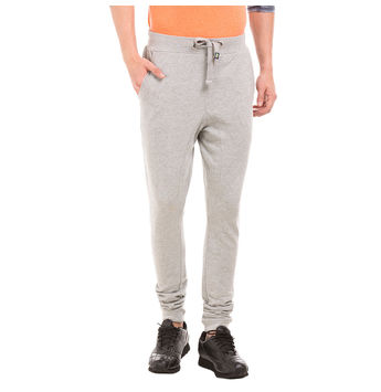 Barrett LN Lt Grey Melange Regular Fit Solid Jogger,  grey, 38
