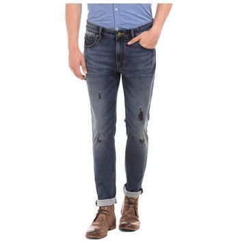 VINE LT BLUE Skinny Fit Solid Jeans,  blue, 36