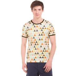 FLINT Ecru Regular Fit All Over Print T-Shirt,  off white, s