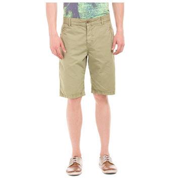 WENDELL DESSERT GREEN Slim Fit Solid Shorts,  blue, 32