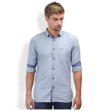 Breakbounce Bjorn Men's Casual Slim Fit Shirt, m,  pale blue