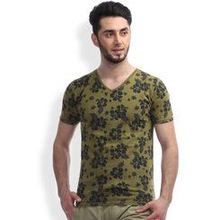 Breakbounce Likoma Slim Fit T -Shirt, m,  combat green