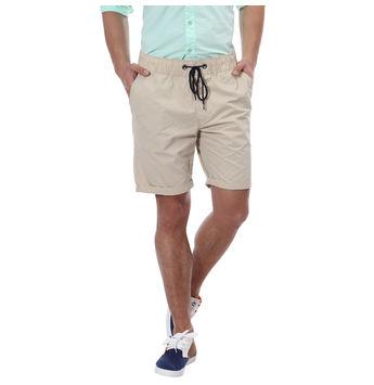 Breakbounce Malalo Comfort Fit Printed Shorts,  beige, 30