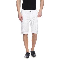Farren White Solid Slim Fit Shorts, 32,  white