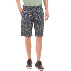 TEES Green Slim Fit Printed Shorts,  green, 32