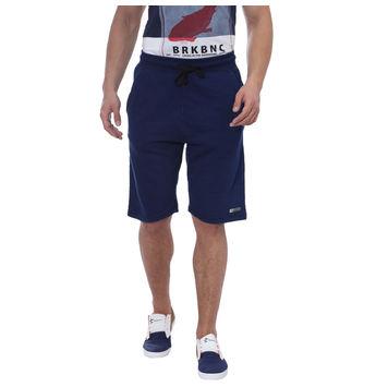 Breakbounce Gama Regular Fit Solid Shorts,  indigo, 34
