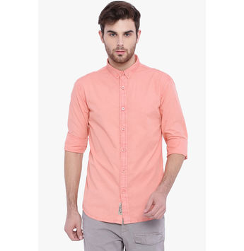 Breakbounce Cary Men's Casual Slim Fit Shirt, xl,  lt orange