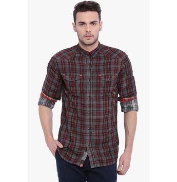 Breakbounce Basil Men's Casual Shirt, xl,  red
