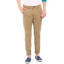 GRAIN F DARK CAMEL Skinny Fit Solid Trouser,  brown, 32