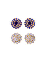 Sri Jagdamba Pearls Combo Of 2Pair Studs For Diwal...