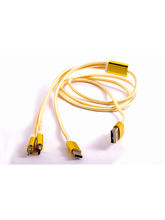 3G Gold Royal USB 3 in 1 Cable, yellow