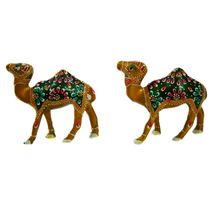 Rajasthani Meenawork Painting Camel Pair, regular