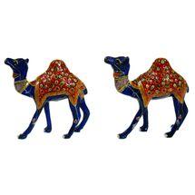 Rajasthani Meenawork Painting Camel Pair, regular