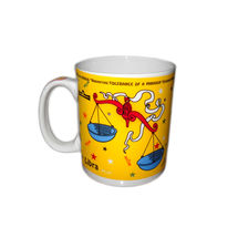 Libra Zodiac Sign Ceramic Coffee Mug, regular