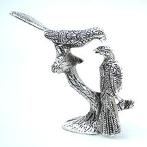 White Metal Love Birds Statue, regular