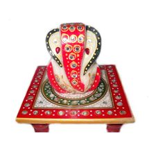Marvellous Marble Ganesha Chowki, regular