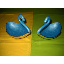 Duck shape Snacks Serving 2 Bowl Set - Blue, regular