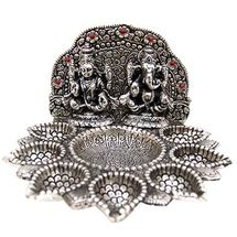 White Metal Seven Deepak Laxmi Ganesh, regular
