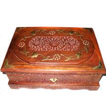 Wooden Hand Carved Bangle Box - Rectangle, regular