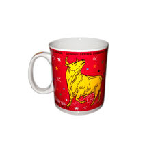 Zodiac Sign Ceramic Coffee Mug - Taurus, regular