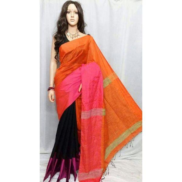 Mahapar Cotton Silk Saree 6.3 metre length with Blouse Piece 19