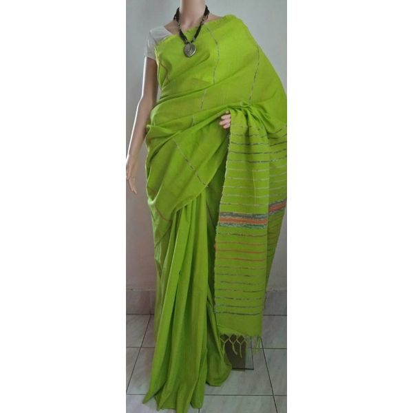 Pure Cotton Khes Saree 17