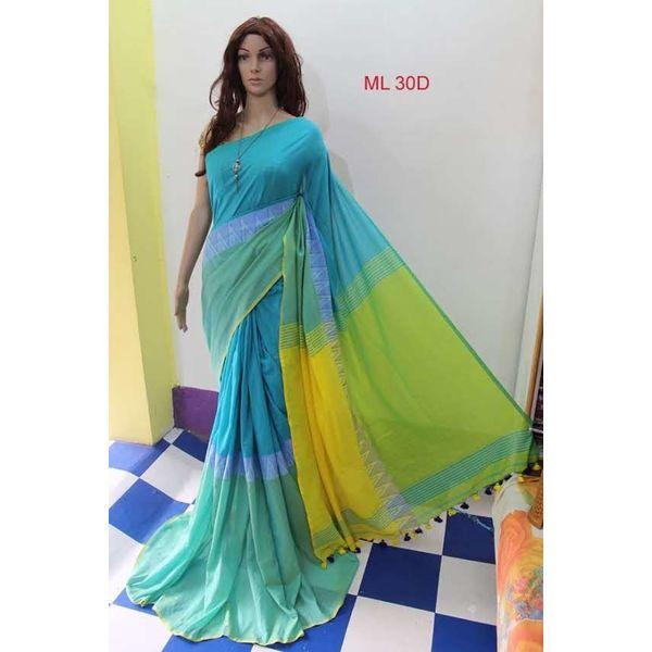 Madhyamoni Khadi Cotton Sarees Directly from Weavers 1