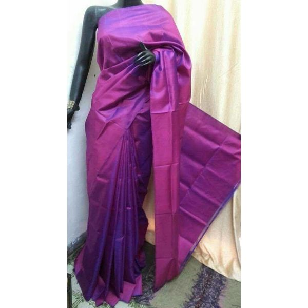 Bishnupuri Silk Saree in Solid/Plain Colours 5