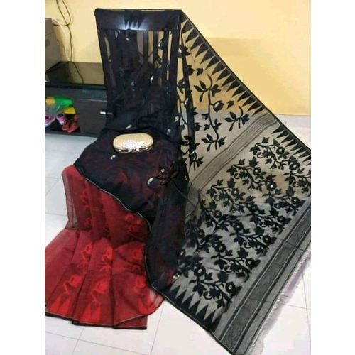 Bengal Handloom Jamdani Sarees with intricate designs Directly from Weaver 5.5 Metre WITHOUT Blouse Piece 3