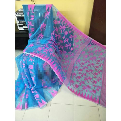 Bengal Handloom Jamdani Sarees with intricate designs Directly from Weaver 5.5 Metre WITHOUT Blouse Piece 20