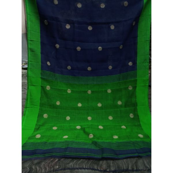 Linen By Linen Ball Butta Jamdani Saree 5.5 Metre with 80cm Blouse Piece 18