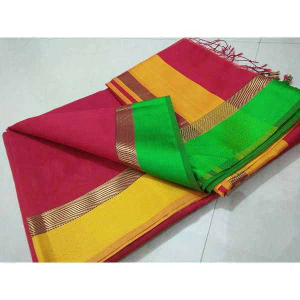 Pure Maheswari Cotton Silk Saree 33