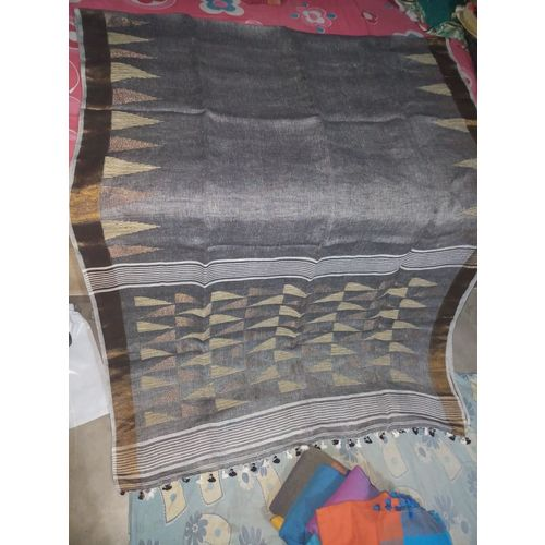 Pure Linen Jamdani Saree 5